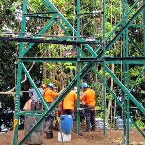 cocos island radar installations image