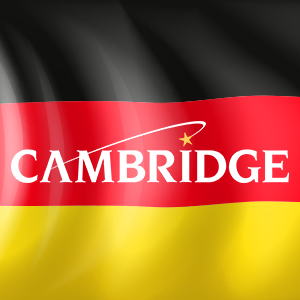 Germany flag with Cambridge Logo