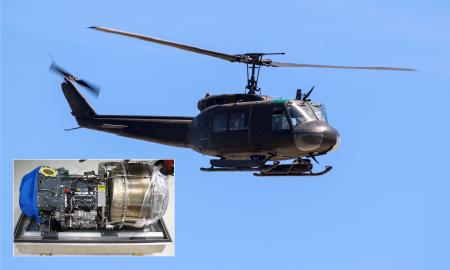 UH-1H Helicopter and Engine