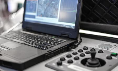 Command computer and joystick